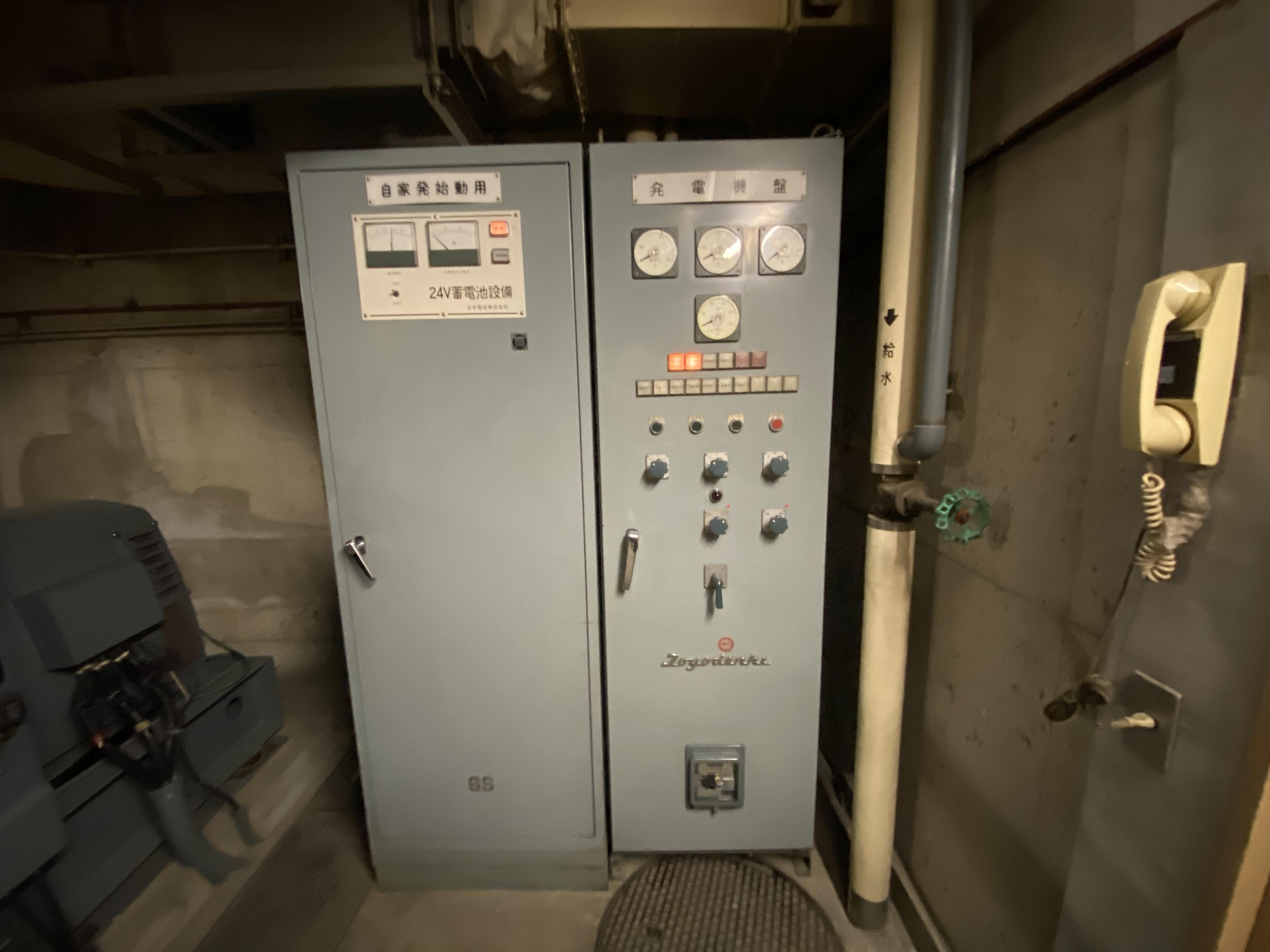 発電機室 給気排気ファンの不具合